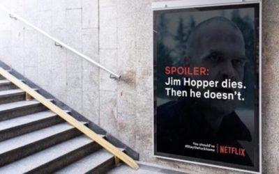 Spoilers på digitala skyltar får världens uppmärksamhet